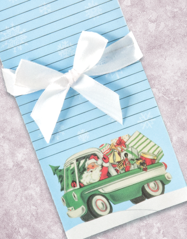 Santa's Delivery Van Shopping List Pad