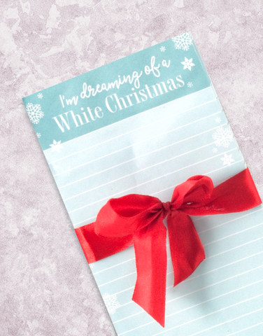 Dreaming of Red and White Shopping List Pad