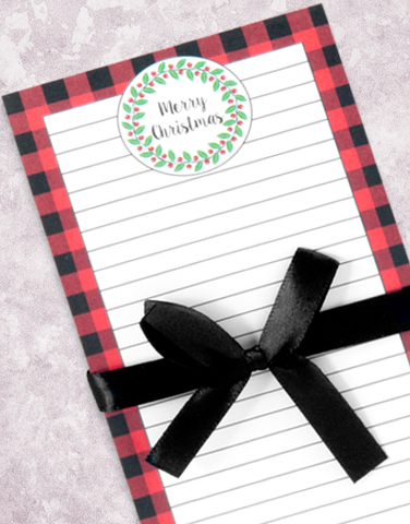Buffalo Christmas Plaid Shopping List Pad