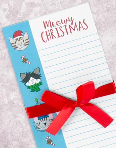 Kitty Christmas Wishes Shopping List Pad