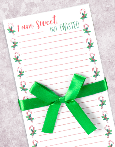 Sweet but Twisted Shopping List Pad