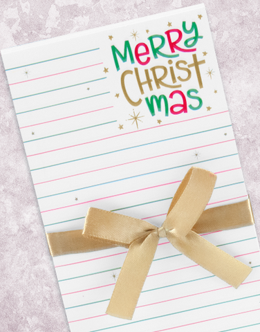 Merry Christ Shopping List Pad