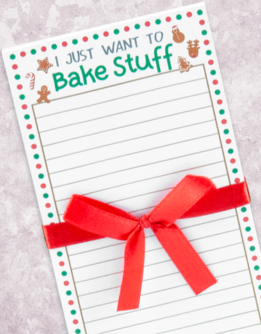 Bake and Sing Shopping List Pad