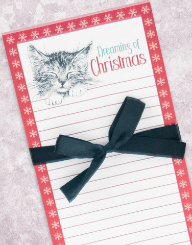 Dreaming of Christmas Shopping List Pad
