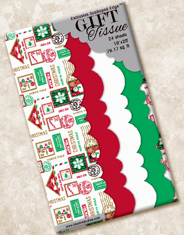 North Pole Express Scalloped Tissue Paper