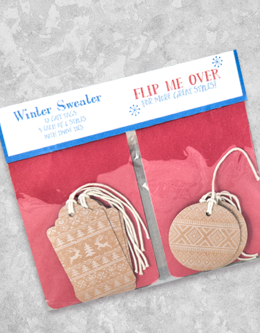 Winter Sweater (12 Count Holiday Gift Tags)