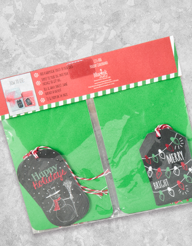 Holiday Chalkboard (12 Count Holiday Gift Tags)