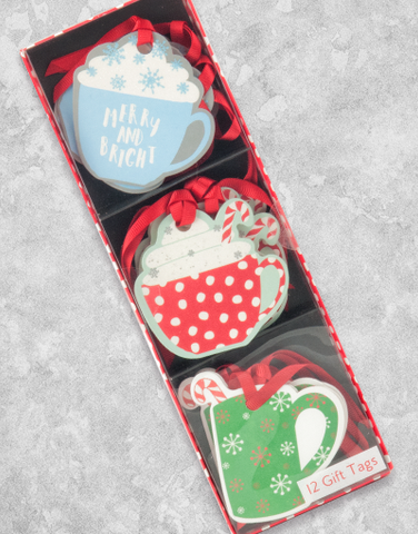 Hot Holiday Beverage (12 Count Holiday Gift Tags)
