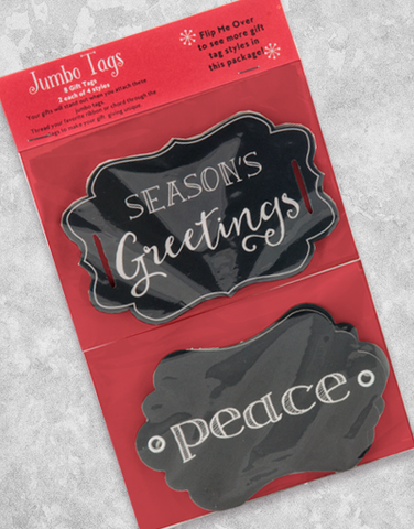 Jumbo Chalkboard Holiday (8 Count Holiday Gift Tags)