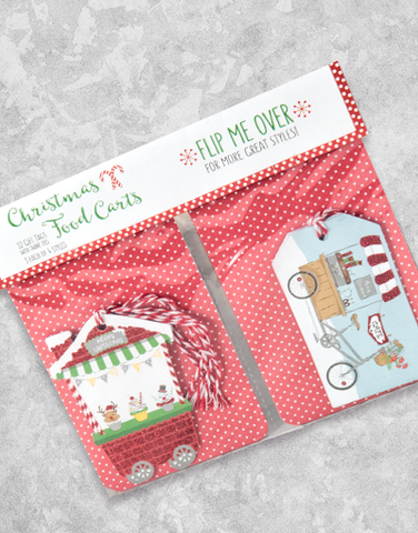 Christmas Food Carts (12 Count Holiday Gift Tags)