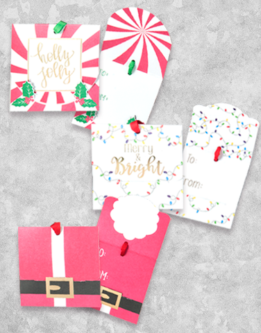 Christmas Fun Fold Over (6 Count Holiday Gift Tags)