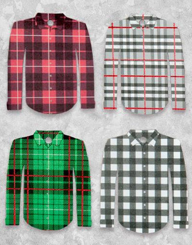 Plaid Shirts (8 Count Holiday Gift Tags)