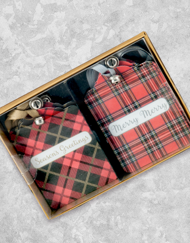 Plaid Jingles (6 Count Holiday Gift Tags)