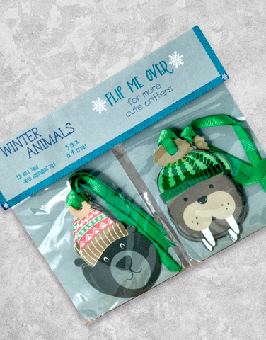 Winter Animals (12 Count Holiday Gift Tags)