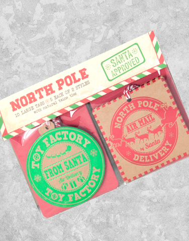 North Pole (10 Count Holiday Gift Tags)