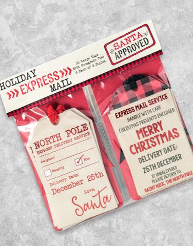 Holiday Express Mail (10 Count Holiday Gift Tags)