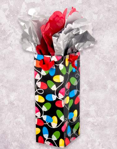 Merry & Bright Lights Wine Gift Bags