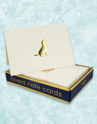 Good Dog Embossed Note Cards