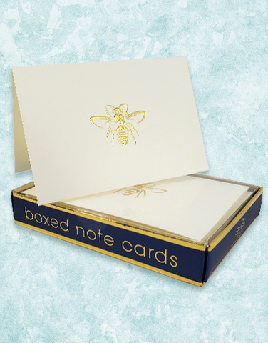 Golden Bee Embossed Note Cards