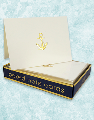 Anchors Aweigh Embossed Note Cards