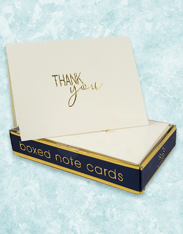 Signature Thanks Embossed Note Cards