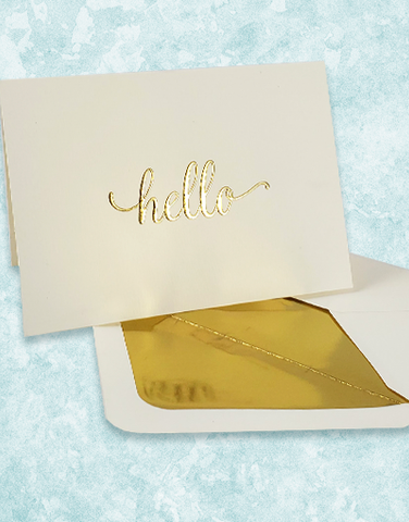 Hello Hello Embossed Note Cards