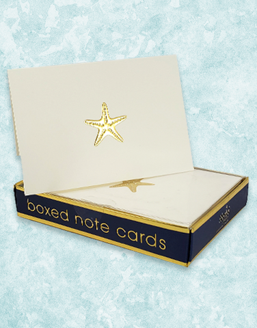 Starfish Dreams Embossed Note Cards