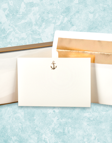 Golden Anchor Flat Correspondence Cards