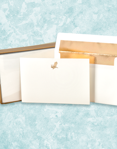 Golden Beach Chair Flat Correspondence Cards