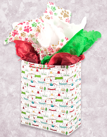 Holiday Cats (Garden) Gift Bags