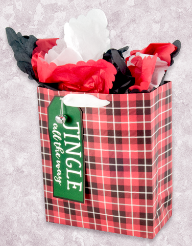 Jingle Plaid (Garden) Gift Bags