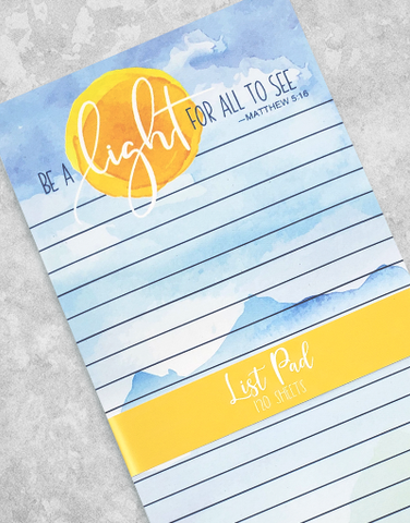 Be A Light Chunky List Pad
