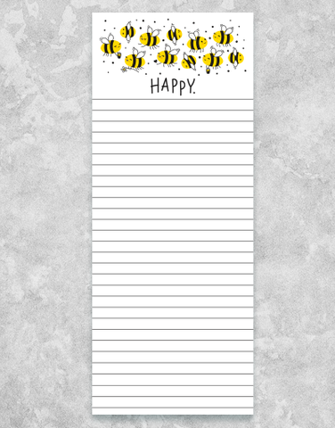 Bee Happy Chunky List Pad