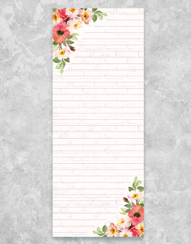 Bricks & Blossoms Chunky List Pad
