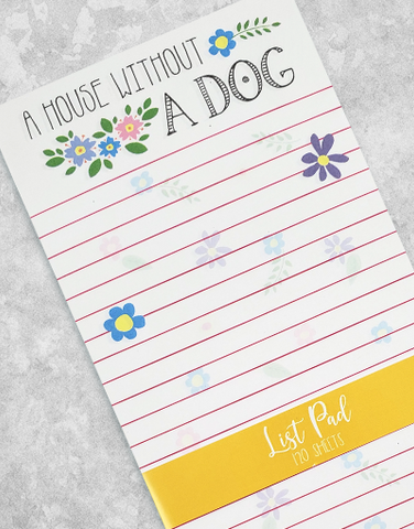 Dog Is Home Chunky List Pad