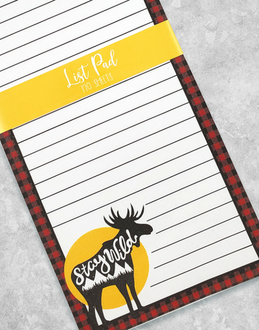 Stay Wild Chunky List Pad