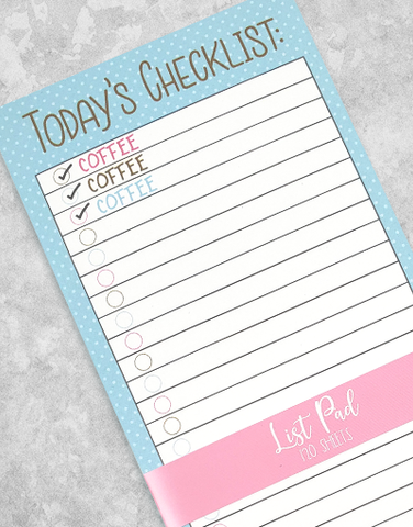 Today's Checklist Chunky List Pad