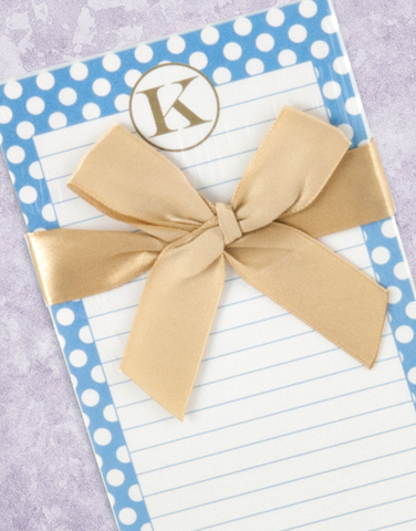 Simple Dots Monogram K Shopping List Pad