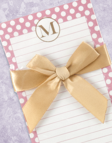 Simple Dots Monogram M Shopping List Pad