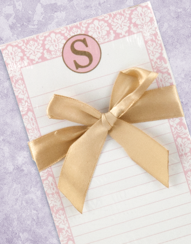 Pretty Damask Monogram S Shopping List Pad