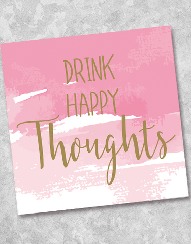 Drink Happy Thoughts Beverage Napkins (36 Count)