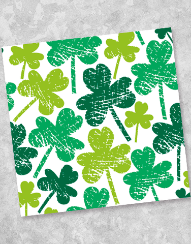 Shamrocks Scratched Beverage Napkins (40 Count)