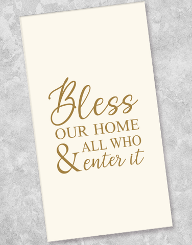 Bless Our Home Guest Towel Napkins (36 Count)