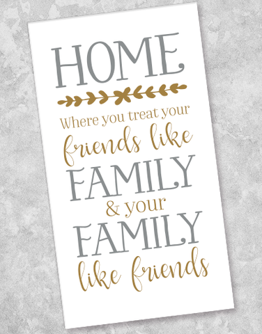 Family & Friends Home Guest Towel Napkins (36 Count)