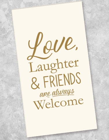 Love, Laughter and Friends Guest Towel Napkins (36 Count)