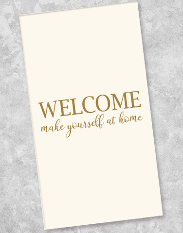 Welcome Guest Towel Napkins (36 Count)