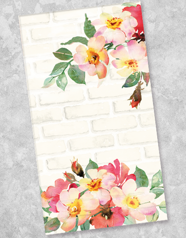Bricks and Blossoms Guest Towel Napkins (36 Count)