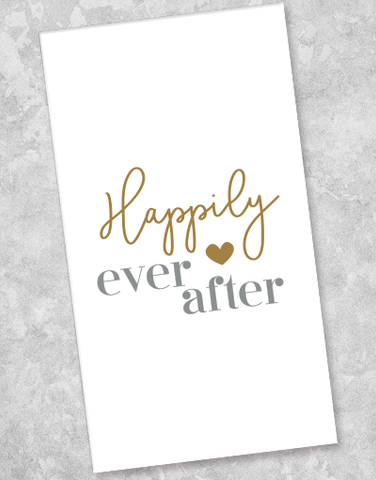Happily Ever After Guest Towel Napkins (36 Count)