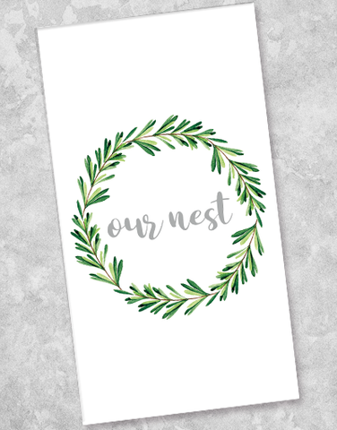 Wreath Nest Guest Towel Napkins (36 Count)
