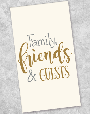 Friends & Guests Guest Towel Napkins (36 Count)